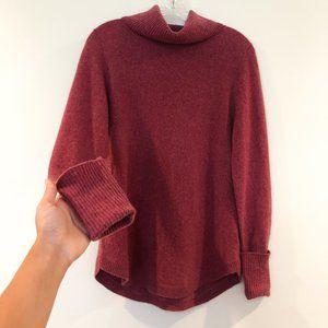 🍁MAX STUDIO 2-Ply Cashmere Mauve Cowl Sweater